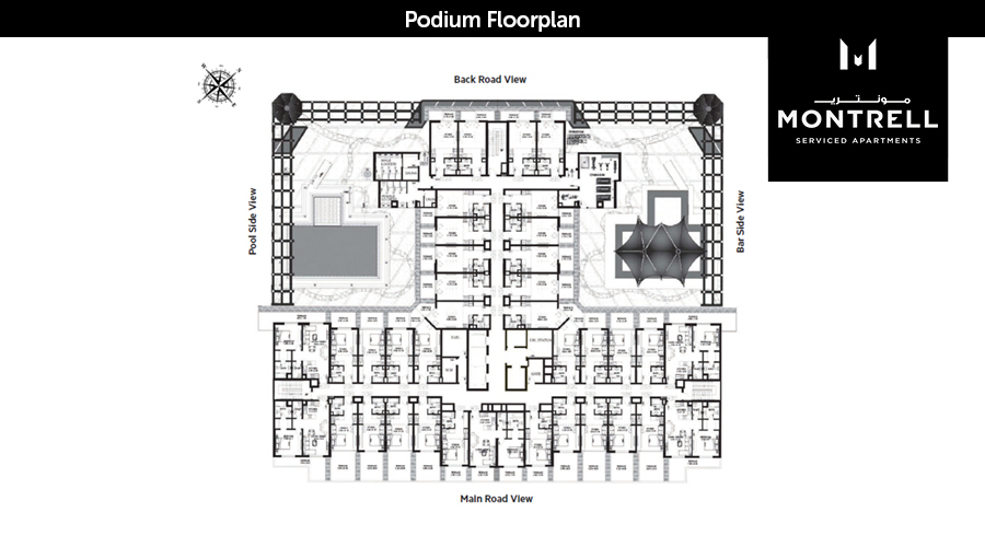 Montrell podium floorplan, Dubai, UAE