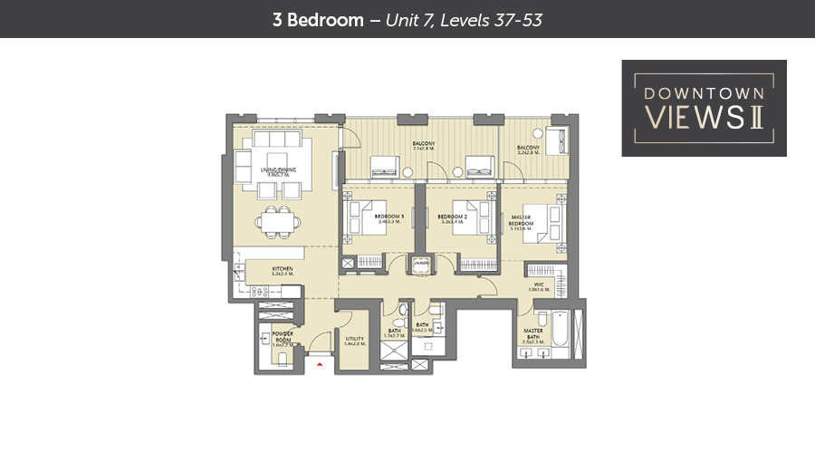 Downtown views ll floorplan