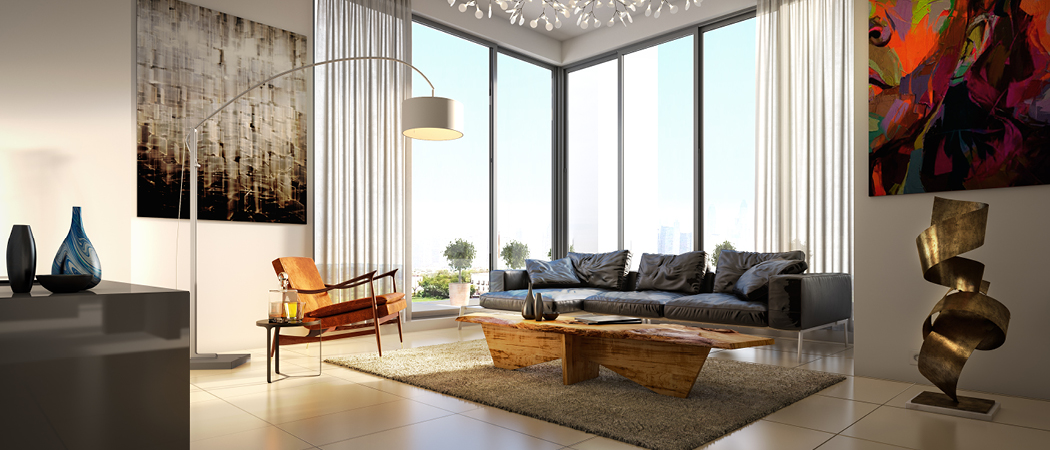 Murano living room, Dubai, UAE