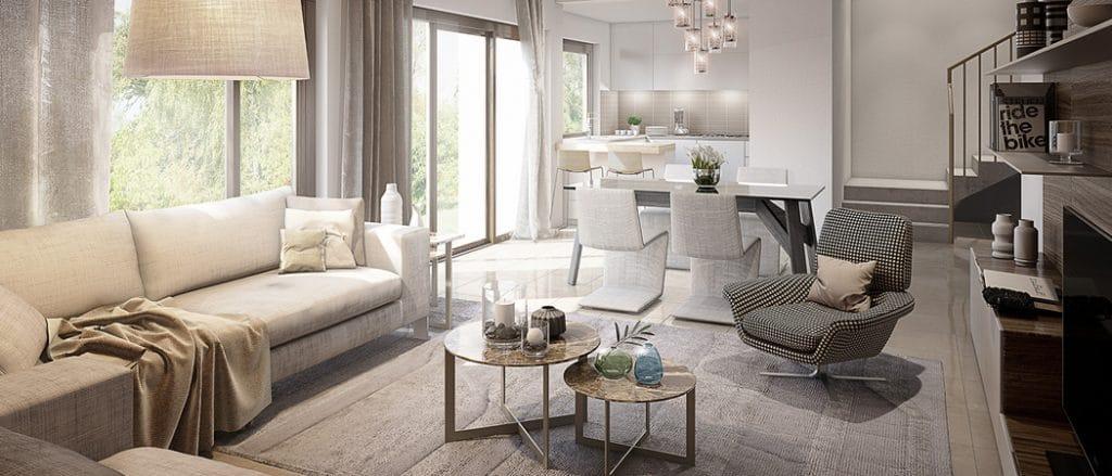 Hayat Boulevard Apartments Dubai open plan living space
