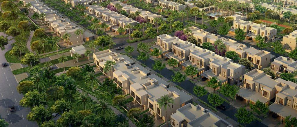 Hayat Boulevard Apartments Dubai overhead view