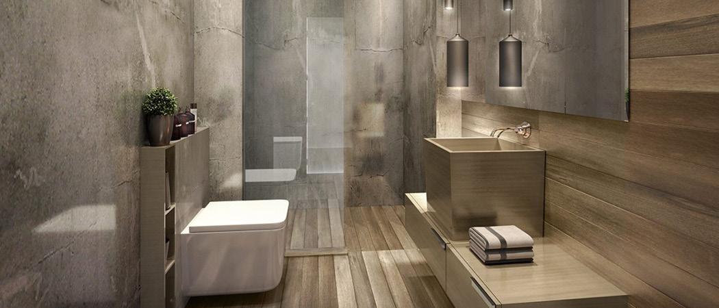 Azizi Aura Residence bathroom, Dubai, UAE