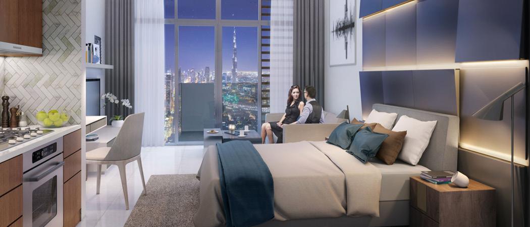 Farhad Residence studio bedroom, Dubai, UAE