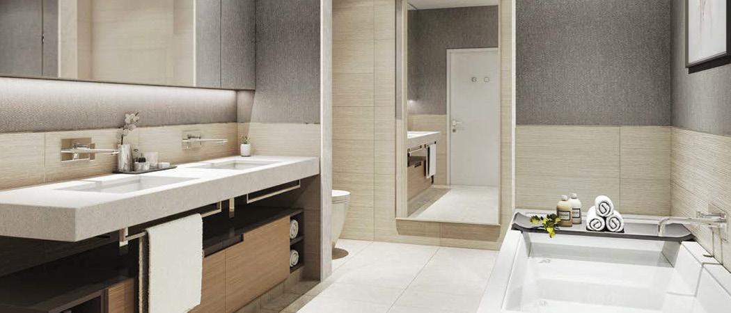 DT1 bathroom, Dubai, UAE