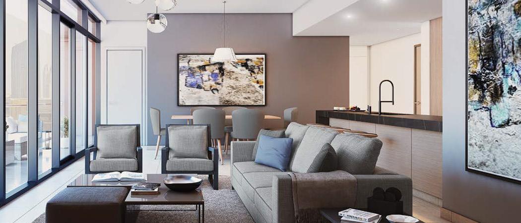 DT1 living room, Dubai, UAE