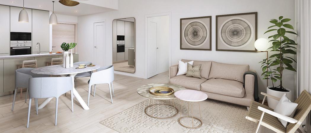 Eaton Place living room, Dubai, UAE