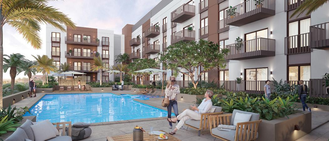 Eaton Place pool, Dubai, UAE