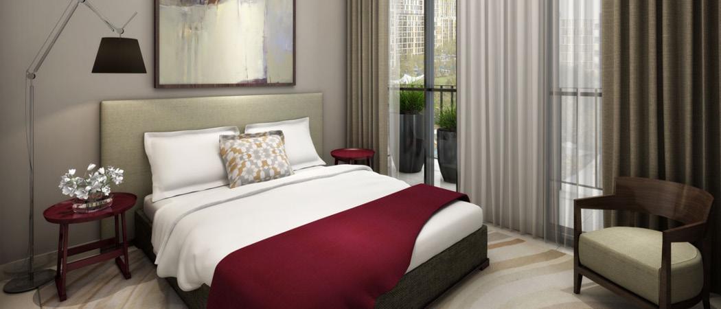 Midtown Afnan bedroom, Dubai, UAE