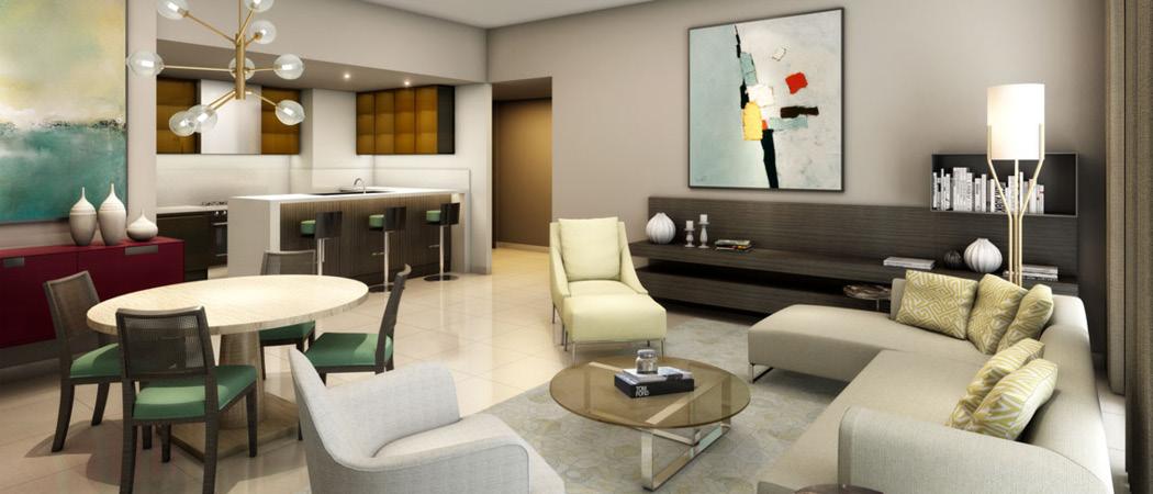 Midtown Afnan living room, Dubai, UAE