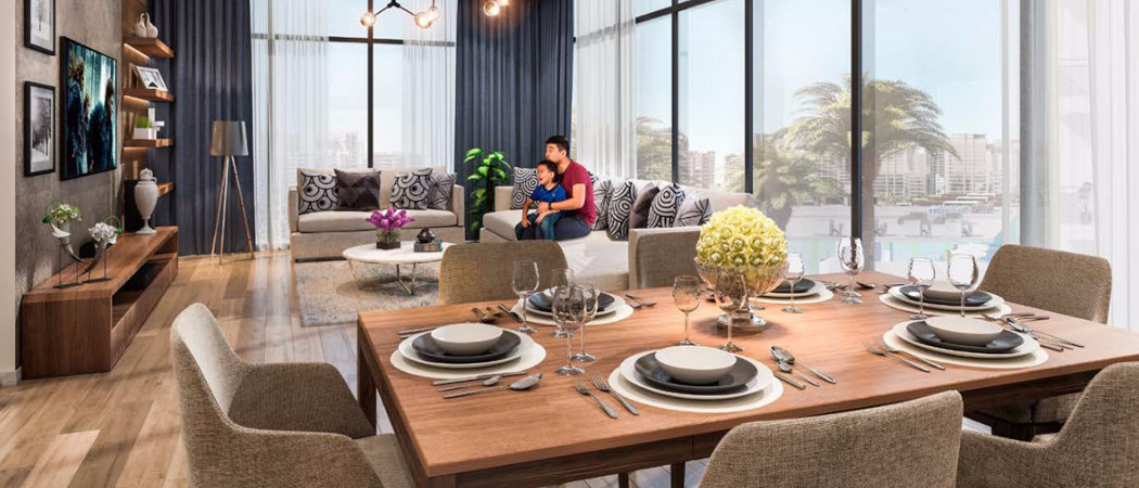 Azizi Riviera livingroom, Dubai, UK