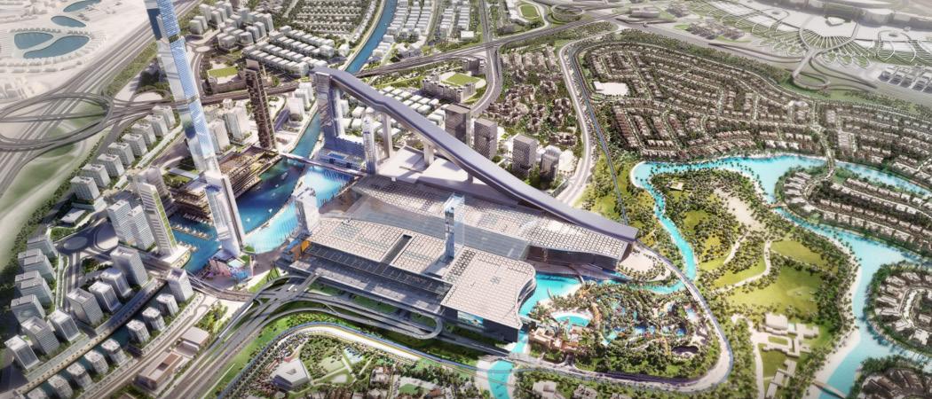 Azizi Riviera, Meydan One aerial, Dubai, UK