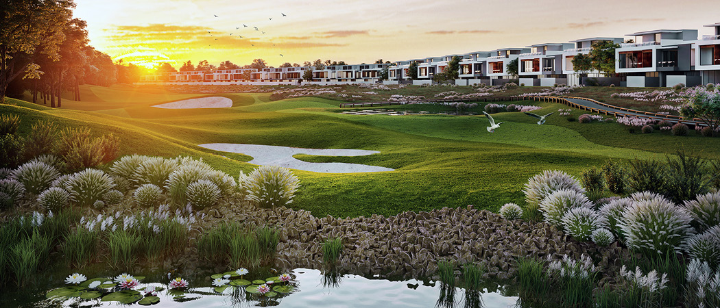 Jumeirah Luxury golf course, Dubai, UAE