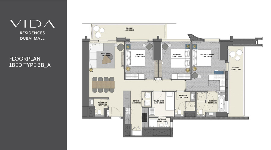 Vida Residences Dubai Mall floorplan, Dubai, UK