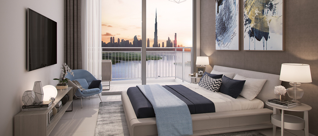17 Icon Bay bedroom, Dubai Creek Harbour, Dubai, UAE