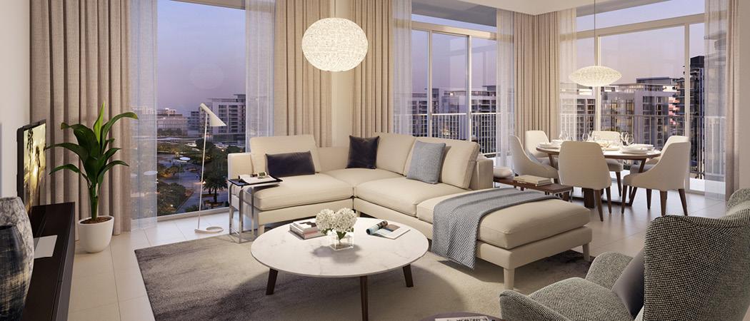 Park Ridge living room, Dubai Hills Estate, Dubai, UAE