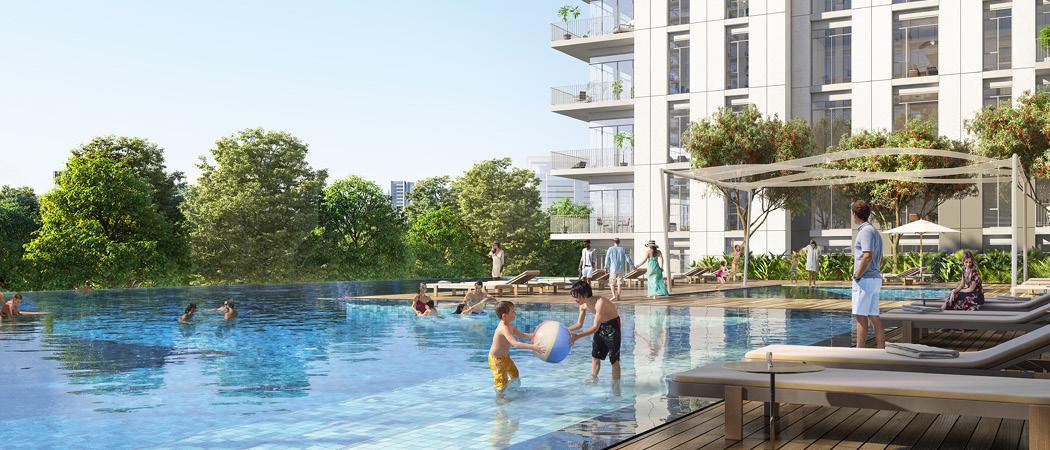 Park Ridge swimming pool, Dubai Hills Estate, Dubai, UAE