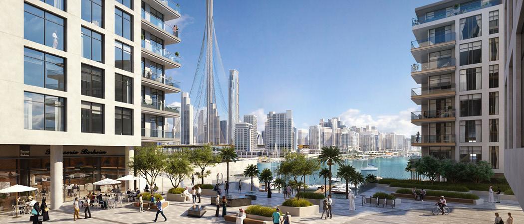 The Cove communal area, Dubai Creek Harbour, Dubai, UAE