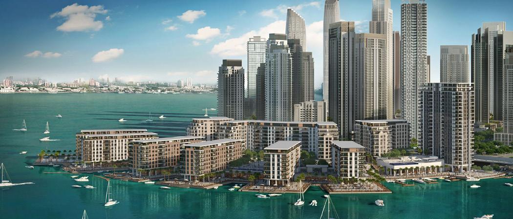 The Cove external shot, Dubai Creek Harbour, Dubai, UAE
