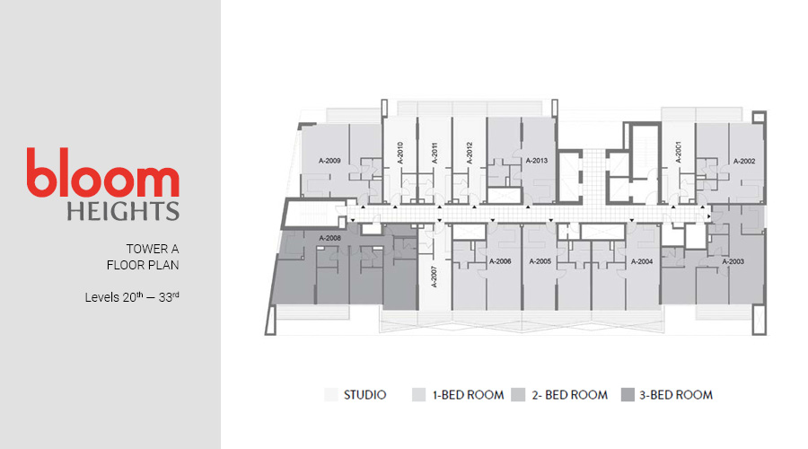 Bloom Heights, Tower A Levels 20th — 33rd floorplan, Dubai South, UAE