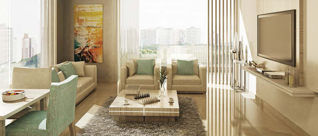 Bloom Heights living room, Dubai, UAE