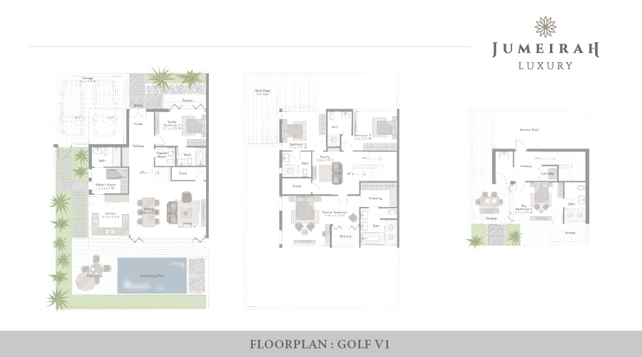 Jumeirah Luxury floorplan 1, Dubai, UAE
