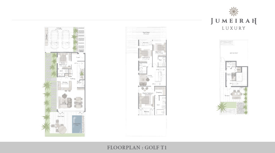 Jumeirah Luxury floorplan 3, Dubai, UAE