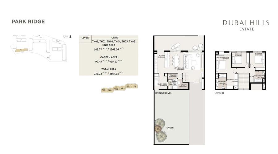 Park Ridge floorplan 10, Dubai Hills Estate, Dubai, UAE