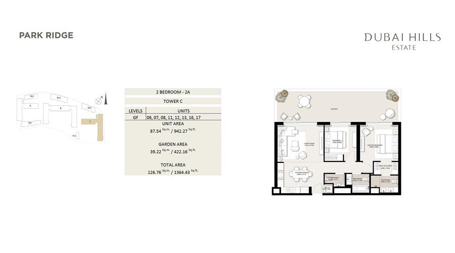 Park Ridge floorplan 5, Dubai Hills Estate, Dubai, UAE