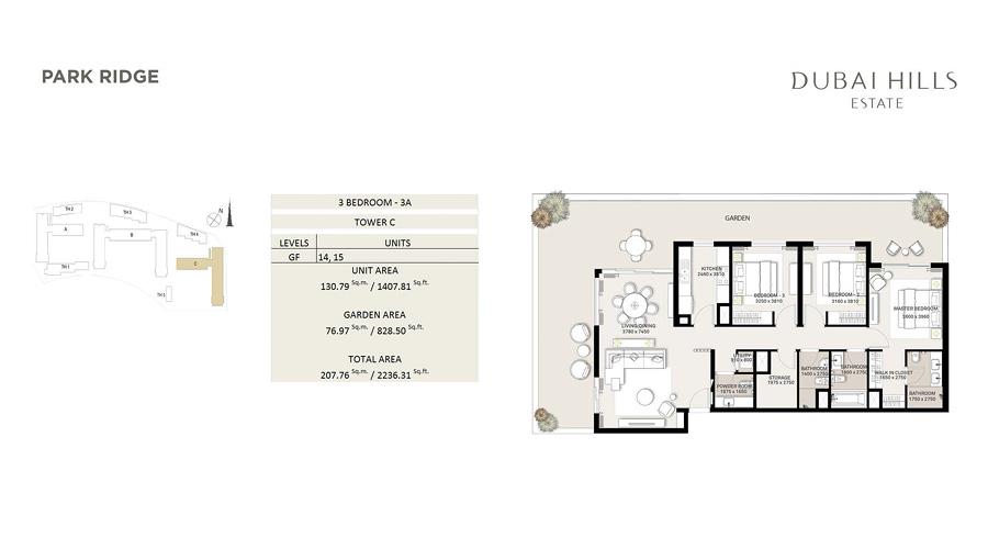 Park Ridge floorplan 7, Dubai Hills Estate, Dubai, UAE