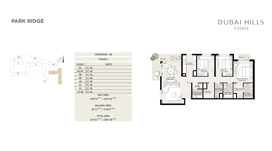 Park Ridge floorplan 8, Dubai Hills Estate, Dubai, UAE